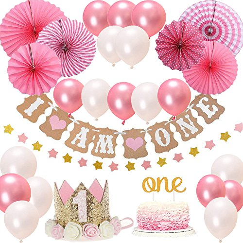 Baby Girl 1st Birthday Themes.Details About First 1st Birthday Girl Decorationspink Theme Kit Set Baby Girl 1st Birthday P