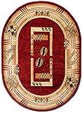 "OVAL Rug Beige Red Classic Living Room Dininng Room Bedroom Oeko-Tex Heat Set "" KIRTAN "" Large 110 x 265 cm ( 3ft8"" x 8ft9"" )"