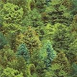 Dunkel grüner Baum Wald Stoff Landscape Medley Elizabeth's