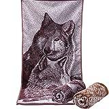 mark8shop 34* 73cm Impreso, diseño de lobos–Toalla de baño (algodón, absorbente,...