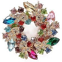 2bdcea13f37d Hosaire Broche de la Guirnalda Diamantes 52X52mm Broches y Prendedores  Retro Pin Ramillete Acero Inoxidable para