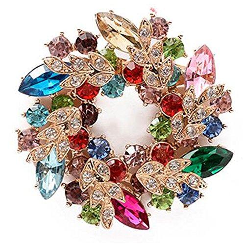 Hosaire Broche de la Guirnalda Diamantes...