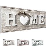 Bilder 100 x 40 cm - Home Bild - Vlies Leinwand - Kunstdrucke -Wandbild - XXL Format – mehrere Farben und Größen im Shop - Fertig Aufgespannt - Haus – Willkommen 504411a