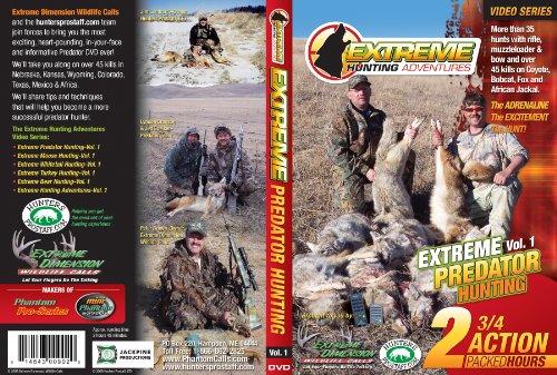 Extreme Dimension Wildlife–Predator Jagd Abenteuer–DVD–eha902–siehe mehr als 35Hunts mit Gewehr, Vorderlader Schleife für 45tötet auf Coyote, Bobcat, Fox und afrikanischen Jackal