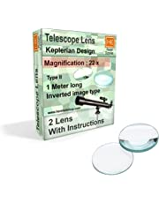 RETAIL SUPPLIES DIY Telescope Lens kit, Keplerian Astronomical Design, 22x, Inverted Image Type, with Make Instructions