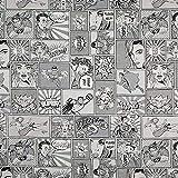 Fabulous Fabrics Jacquard Gobelin Comic - schwarz/Weiss -
