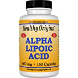 Healthy Origins, Acide alpha lipoïque, 600 mg, 150 Capsules, sans gluten, sans soja
