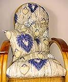 Auflage / Polster für Schaukelstuhl , Liegestuhl , Ersatzpolster Gr. 130 x 50 x 12 cm + Zierkissen 40 x 40 cm Stoff Mirha Dig.IT