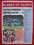 Sheffield Wednesday 2 Sheffield United 4 - 2017 - souvenir print