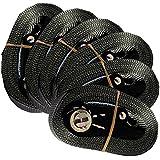 6 Zurrgurte mit Ratsche 6 m 0,8 t EN-12195-2 schwarz Spanngurte 6m