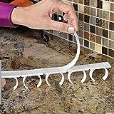 Bristoll, 4x Wandaufhängung zur Aufbewahrung von Gewürzen, Regal, Küchenhilfe, Schranktürhaken, Weiß