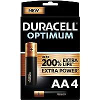 Duracell NEU Optimum AA Mignon Alkaline-Batterien, 1.5V LR6 MX1500, 4er-Pack