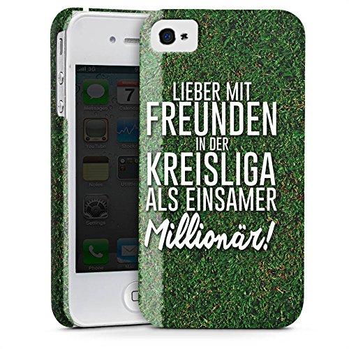 Apple iPhone X Silikon Hülle Case Schutzhülle Kreisliga Fußball Freunde Premium Case glänzend