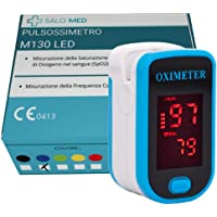 SALO MED M130 - PULSOSSIMETRO OSSIMETRO LED Portatile SpO2, Saturimetro da Dito, Lettore di Impulsi Digitali a Lettura…