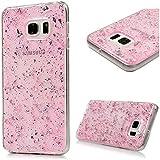 Samsung Galaxy S6 edge plus Carcasa TPU Suave Trasparente Funda, YOKIRIN pintado Cover Case Moviles Libres Pintado Protective Protectora - rosa