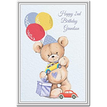 Happy 2nd Birthday Grandson Card