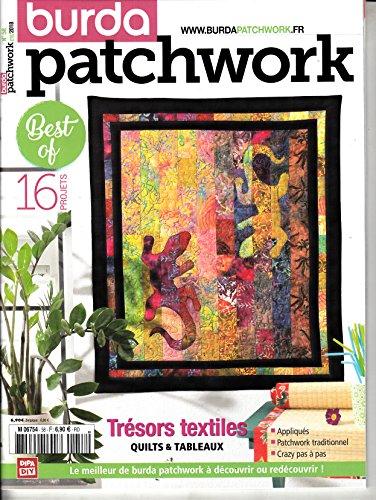 Burda Patchwork (FR) #58 2018 Tresors textiles Zeitschrift Magazin Einzelheft Heft