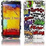 Thematys Comic Haha - Carcasa para Samsung Galaxy Note 3 NEO N7505 (silicona y poliuretano termoplástico) diseño de cómic