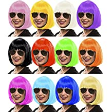 Sexy Bob Peluca Wig Cabaret Paje Botones Charleston Pelucas para Carnaval / Carnaval & Fiesta Temática - 13 COLORES - Azul