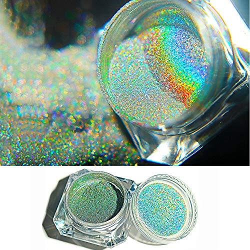 Glitter Staub Spiegeleffekt Nail Art Chrom Pigment Holographische Nagel Pulver Maniküre Dekorationen ()