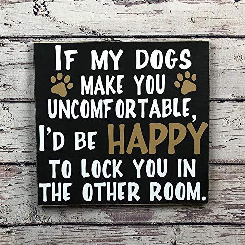 qidushop Hundeschild, lustige Hundeschilder, Hundeschilder, Hundeschilder, Haustier, Haustier, Haustier, Haustier, Haustier, Mütter, Geschenk, Holzschild, handgefertigte Handarbeit -
