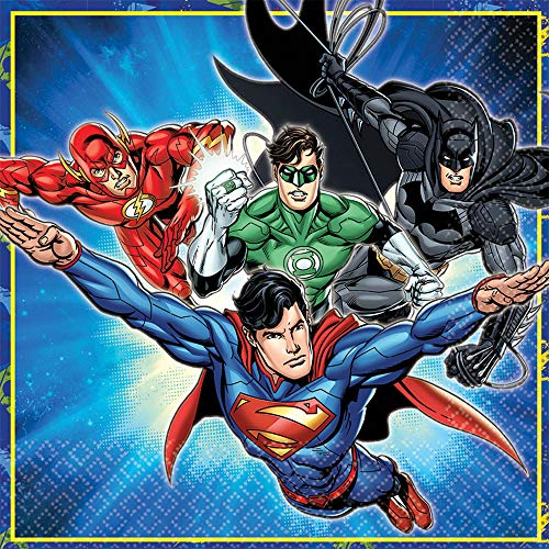 Justice League Luncheon Napkin 2 Ply 33cm Pack of 16