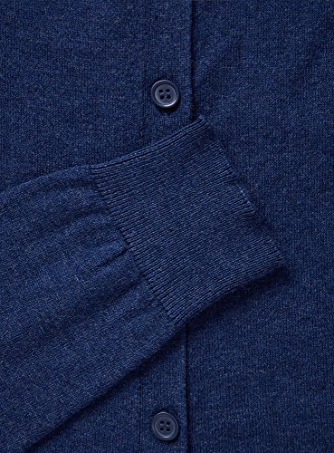 oodji Ultra Herren Cardigan Basic mit Knöpfen Blau (7400M)