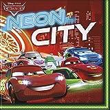 Disney NEON Cars Papier Servietten, 20Stück