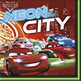 Néon Disney Cars, Lot de 20 serviettes en papier