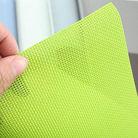 VANKER Manteles a cuadros Cojín Mesa de comedor duradera coaster aislamiento de PVC Mat café (Verde)