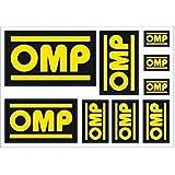 Omp OMPX/889 Adhesivos Diferentes Medidas, Set de 9, Negro/Rojo/Blanco, 58