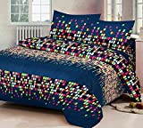 #3: RS Home Furnishing Glace Cotton King Size Double Bedsheet,Set of 1 Bedsheet and 2 Pillow Covers - SKU_Bds_262