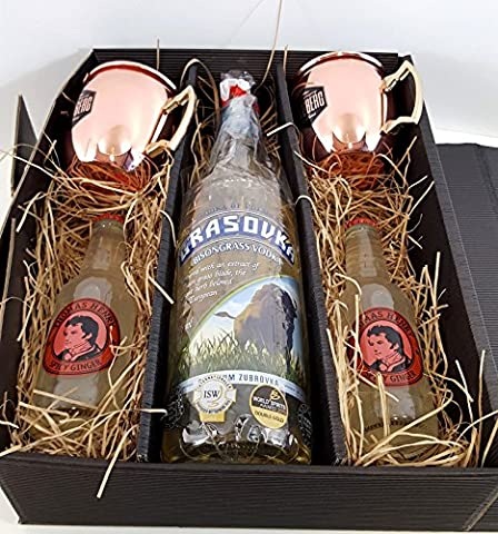 Moscow Mule Set / Geschenkset - Grasovka Büffelgras Vodka 1L