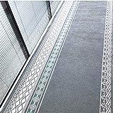 GHGMM Corridoio Passage Carpets Hallway,Tappeto in Stile Nordico corridoio navata Opaca Tappeto Finestra Tappetino da Cucina Mat Lunga Camera da Letto Soggiorno Tappetino,LightGray,80CM*1M