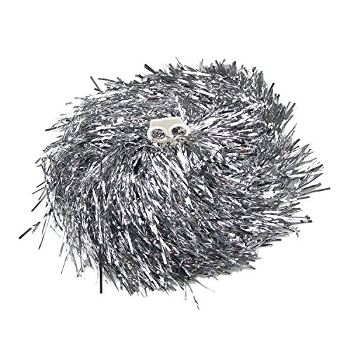 veni-masee-1-pair-holes-handle-cheerleading-pom-poms-price-2-pieces-002-kg-piece-silver