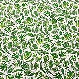 Werthers Stoffe Stoff Baumwollstoff Meterware weiß grün