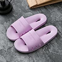fankou Slippers Women Indoor Summer Anti-Slip Home with Lovely Cartoon Couples Home Bath Bathroom Cool Slippers Male Summer,39-40, Purple Hole-Hole Cool Slippers
