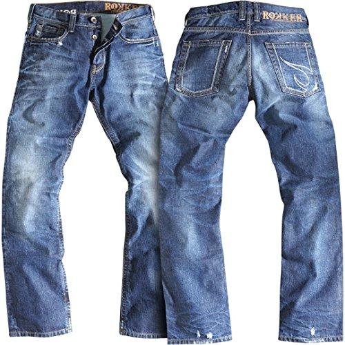 Rokker Rebel Motorrad Jeans 29 Blau L32