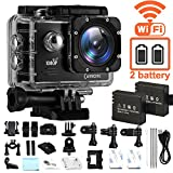 Action Camera, CAMKONG Underwater Camera Wi-Fi Waterproof...