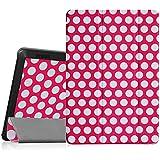 Fintie Amazon Fire HD 7 Funda - Ultra Slim Smart Case Funda Carcasa con Stand Función y Auto-Sueño / Estela para Amazon Fire HD 7 (4ª generación - modelo de 2014), Polkadot Pink