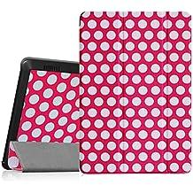 Fintie Hülle kompatibel mit Amazon Fire HD 7 Tablet (2014 Modell) - Ultradünne Lightweight Schutzhülle mit Auto Schlaf/Wach und Standfunktion, Punktmuster