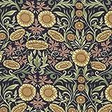 Schwarz und Gelb Sonnenblume Thema von Stoff