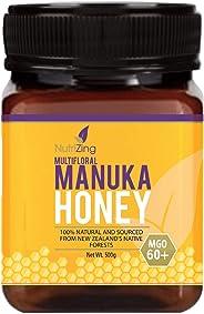 Award Winning Manuka Honey 60+ - New Zealand Made Purity, Delicious Taste - 100% Natural, Thick & Creamy - 500g by NutriZing