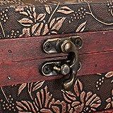 Charminer holz großen schmuck Kiste mit Spiegel 2 Schichten Kosmetische Koffer holz Schmuckschatulle - 7