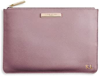Katie Loxton Perfect Pouch Clutch Bag Metallic Rose Pewter - BE BRILLIANTSmallPink