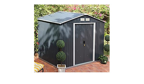 6x4 Store More Anthracite Metal Shed: Amazon co uk: Garden