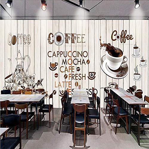 YUANLINGWEI Benutzerdefinierte Größe Retro Holzhaus Kaffeetasse Wand Restaurant Hintergrundbild