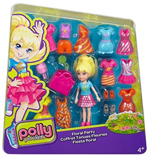 Polly Pocket Deluxe Mode Set - Puppe mit Kleidung, Schuhen und Accesoires (20-tlg) (Polly)