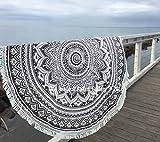 Strandtuch rund aus Baumwolle, 182,9cm, 7 verschiedene Farben