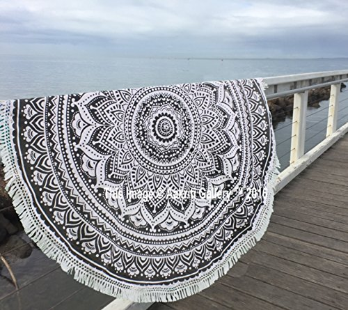 indiana mandala rotonda Roundie Beach buttare arazzo hippy boho gypsy tovaglia in cotone...
